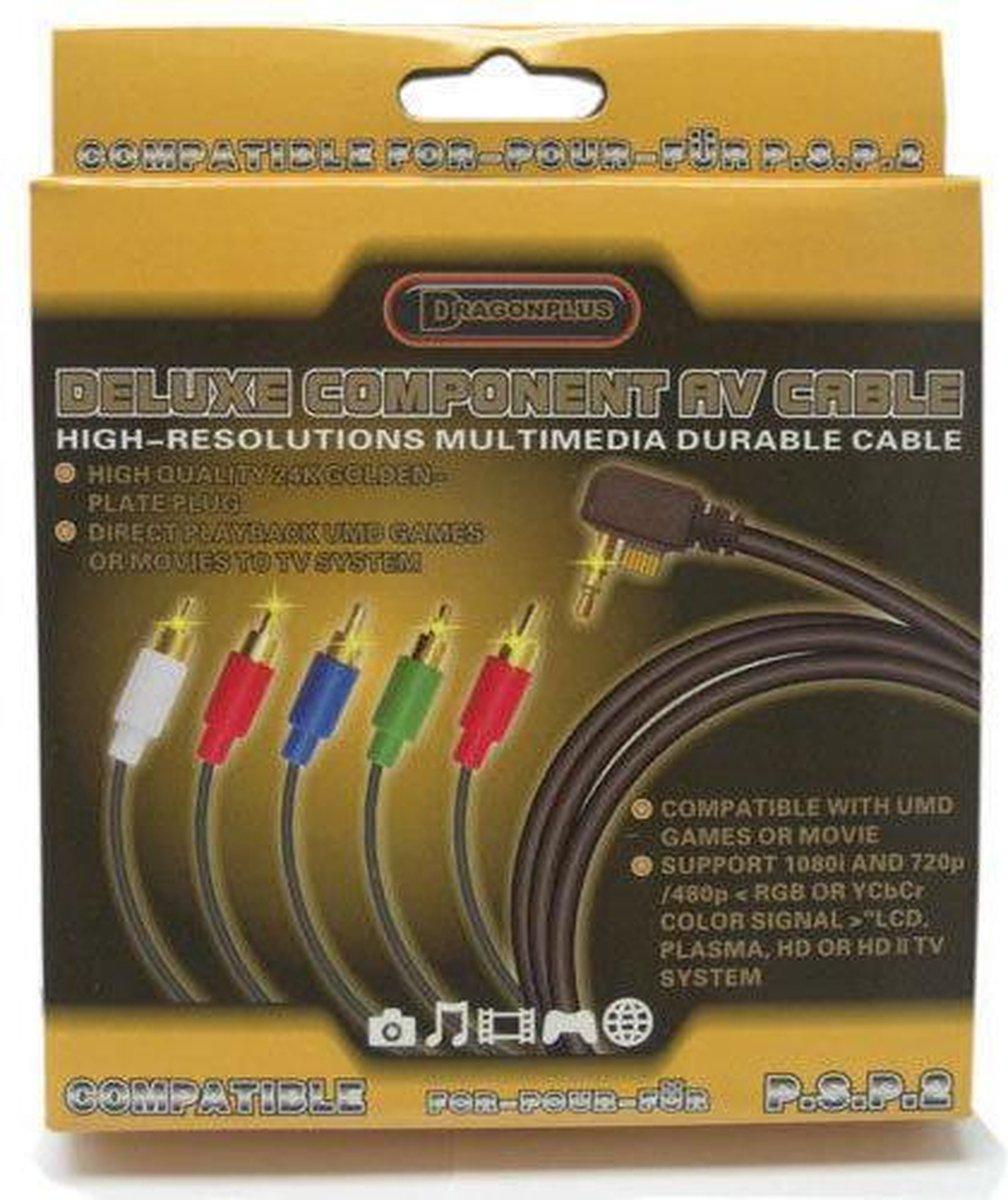 Deluxe Component Av Cable Psp Slim & Lite - Dragonplus