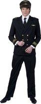 Piloten Kostuum | Geklede piloten jas | Mannen | Maat 56-58 | Carnaval kostuum | Verkleedkleding