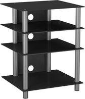 TV meubel kast Hifi meubel Bilus - Zilver / zwart