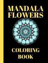 Mandala flowers coloring Book