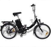 VidaXL Elektrische fiets opvouwbaar - Zwart - 25 km per uur