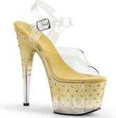 Pleaser Sandaal met enkelband -36 Shoes- STARDUST-708T US 6 Beige