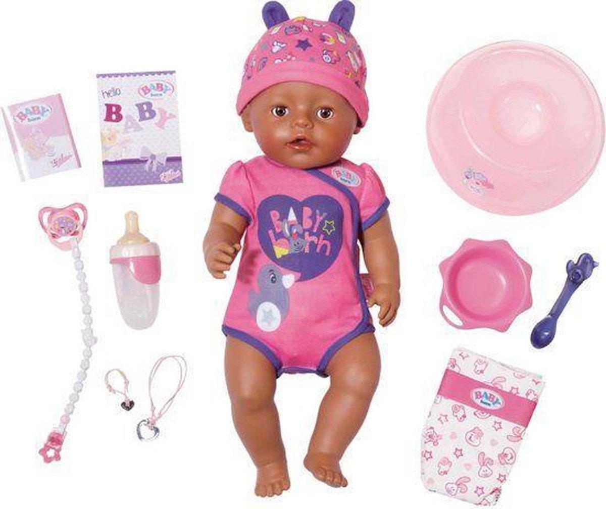 BABY born  Soft Touch Meisje - Interactieve babypop - 43cm
