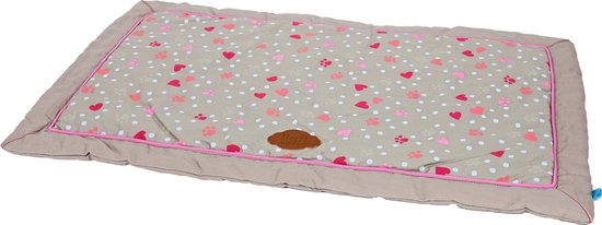 Lief! benchkussen girls beige / roze 88x55 cm