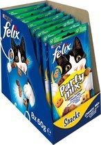 FELIX Party Mix Snacks Kattensnack - Cheesy Mix - 8 x 60 g