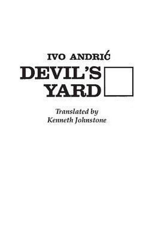 Boek cover Devils Yard van Ivo Andric (Hardcover)