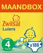 Zwitsal Luiers Maxi - Maat 4 - 186 stuks - Voordee
