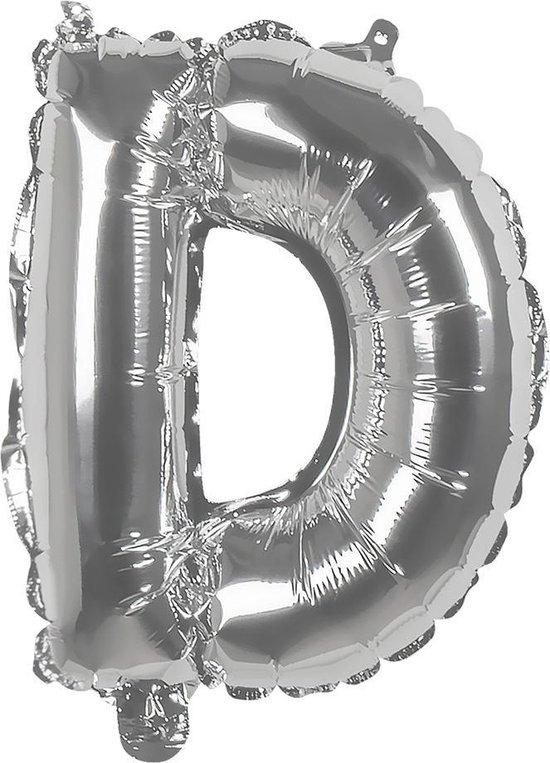 Boland Ballon Letter D Zilver 36 Cm