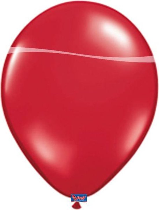 Ballonnen robijn rood - 100 stuks