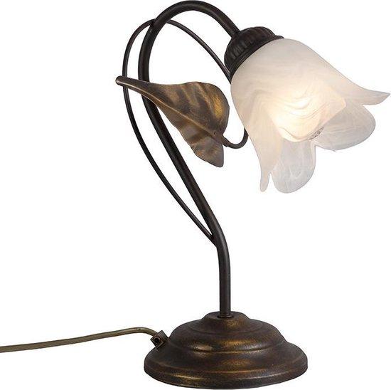 Bol Com Qazqa Noale Tafellamp 1 Lichts 230 Mm Roestbruin