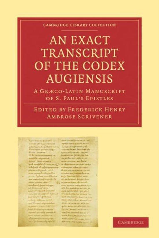 Boek cover Cambridge Library Collection - Biblical Studies van Scrivener, Frederick Henry Ambro