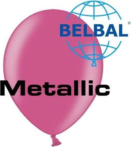 Ballonnen Metallic Fuchsia D5 11 cm 100 stuks (Geen helium)