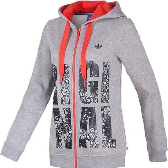 bol.com   Adidas Originals Hoodie Vest Dames - Grijs/Zwart/Rood