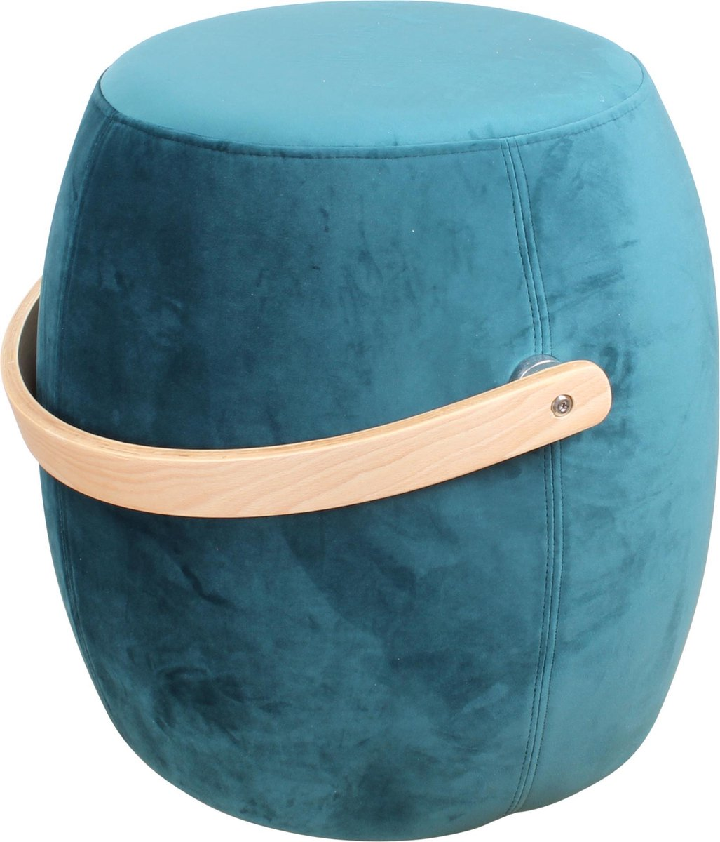 DS4U® color - hocker - velours - petrol blauw - velvet - DS4U