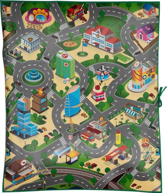 Eddy Toys speelmat - verkeer - 120 x 100 x 0,3 cm - eva-schuim - Eddy Toys