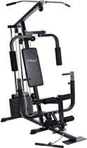 Trend24 - Physionics halterbank Multifunctionele set 40 kg halterschijven Home Gym Workout Fitness Station