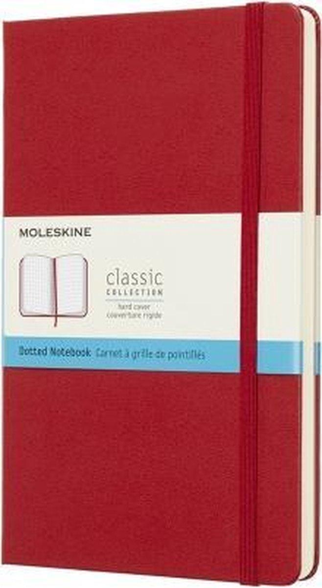 Moleskine Classic Notitieboek Hard Cover - Large - Rood - Stippen