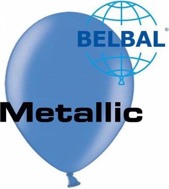 Ballonnen metallic blauw B105