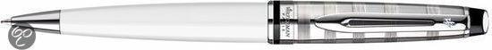 Waterman Expert Deluxe White CT Balpen - Medium Penpunt - Blauwe inkt