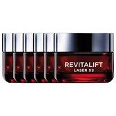 L'Oréal Paris Revitalift Laser X3 Anti-rimpel Dagcrème - 6 x 50 ml - Multiverpakking