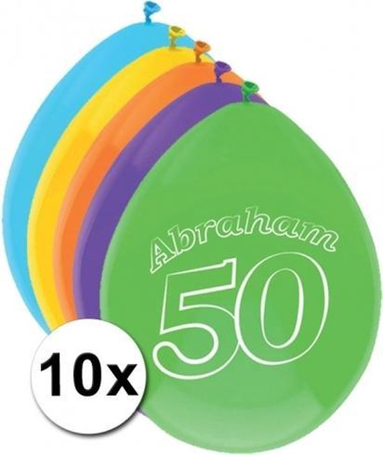 Abraham thema party ballonnen 50 jaar 10 stuks - Feestartikelen en versieringen