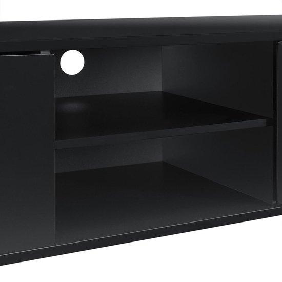 TV meubel Seattle tv kast MDF 34,5x120x40 zwart hoogglans - en.casa