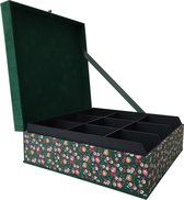 The Dutch Tea Box Tulp Bloem Theedoos met Thee Cadeau - 9 vaks - Groen