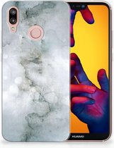 TPU-Siliconen Hoesje Huawei P20 Lite Painting Grey