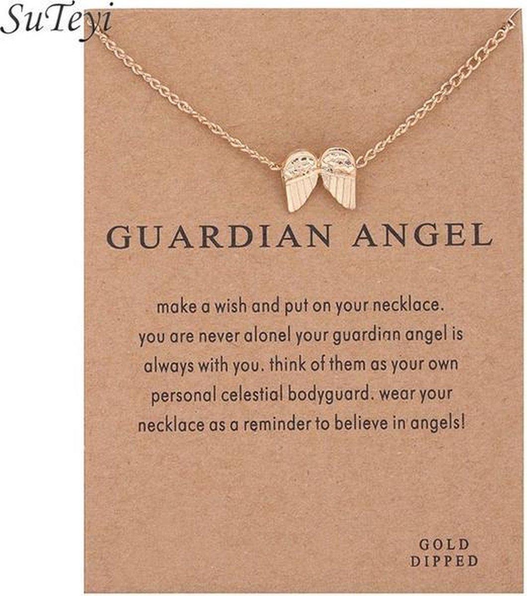 Guardian Angel Ketting Beschermengel Ketting Goudkleurig - Merkloos