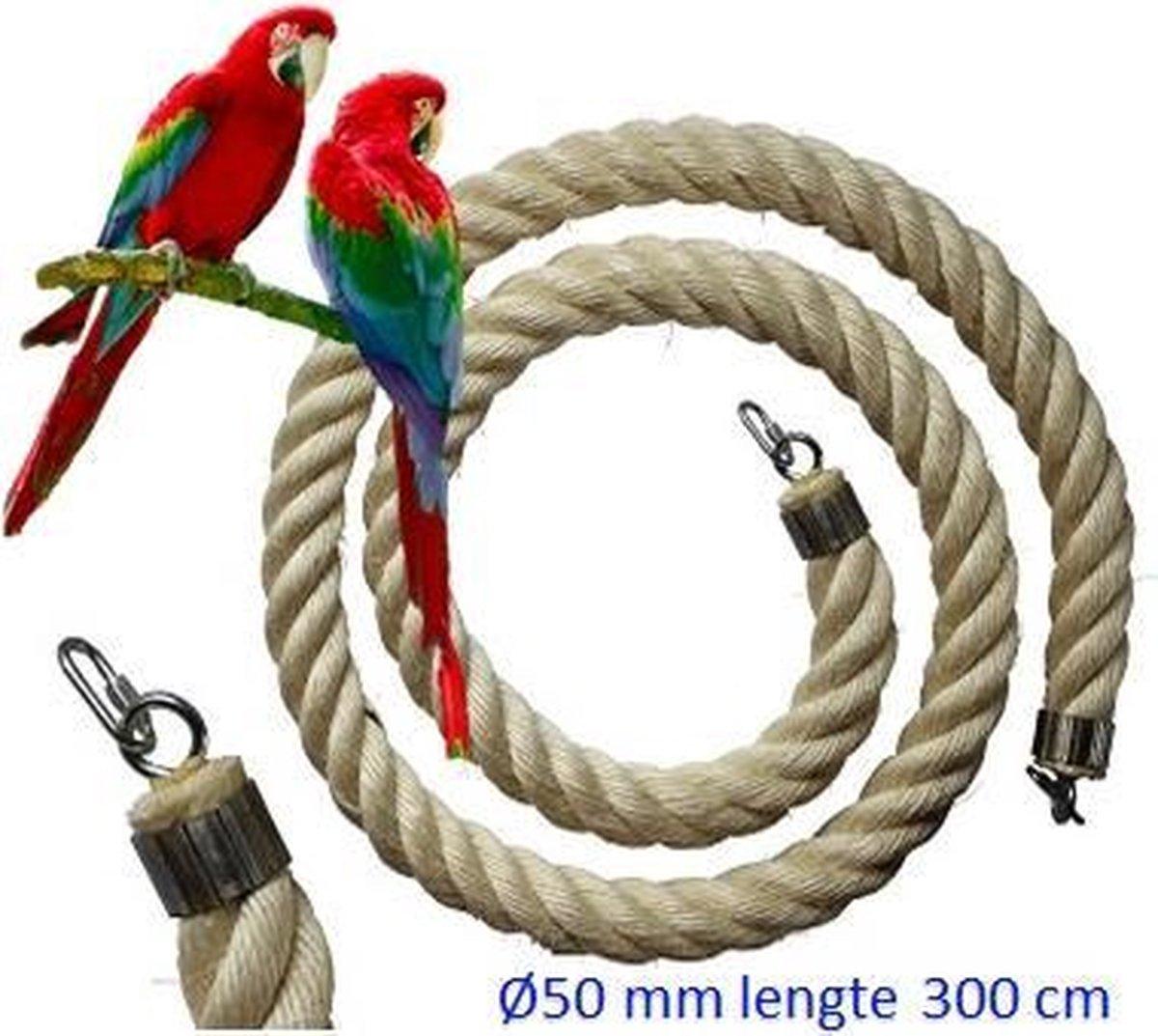 Jungle sisal touw  Ø 50 mm & 300cm lang (vogel touw ) - Jungle4birds