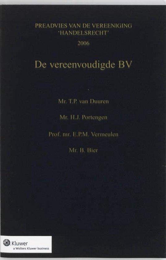 De vereenvoudigde BV - T.P. van Duuren  