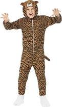 Tijger onesie kostuum voor kinderen / dierenpak 130-143 (7-9 jaar)