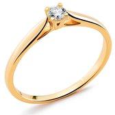 Orphelia RD-3917/54 - Ring - Goud 18 kt - Diamant 0.1 ct - 17.25 mm /  maat 54