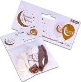 5x Ramadan Mubarak thema ballonnen 30 cm - Suikerfeest/Offerfeest/Ramadanfeest versieringen/decoraties