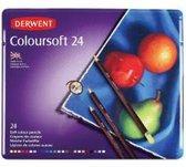 Derwent Coloursoft Potloden in blik 24 stuks