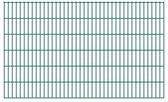 vidaXL Dubbelstaafmatten 2008 x 1230mm 30m Groen 15 stuks