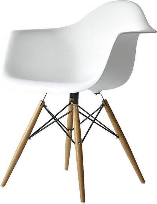 Designstoel kuipstoel Wit  - Meubelaxi