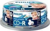 Philips CD-R 700MB 25pcs spindel inkjet printable