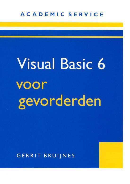Visual Basic 6 Voor Gevorderden - Martin Vulker |