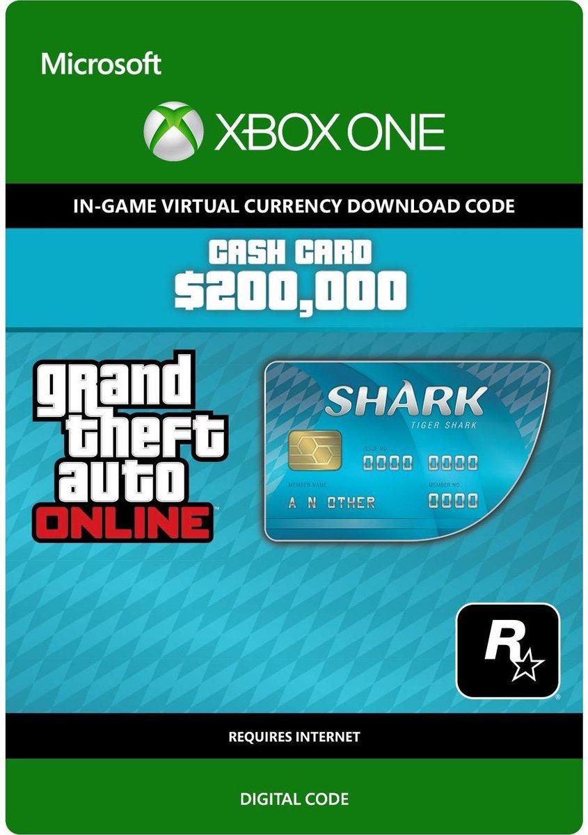 Grand Theft Auto V (GTA 5) - Tiger Shark Cash Card: $ 200.000 - Xbox One download