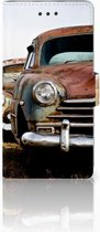 Huawei Ascend P8 Lite Uniek Ontworpen Hoesje Vintage Auto