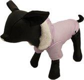 Winterjas voor de hond in de kleur lila - XS ( rug lengte 20 cm, borst omvang 26 cm, nek omvang 22 cm )