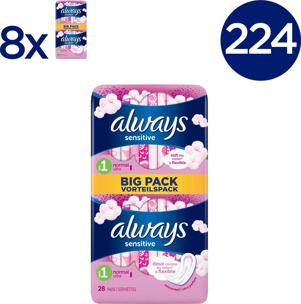 Always Sensitive Ultra Normal Maandverband - Voordeelverpakking 224 Stuks