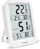 Temp Pro thermometer - Comfortindicator - hygrometer - Hoge nauwkeurigheid - Wit