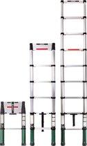 VONROC Professionele Telescopische ladder – 2.6m – met softclose – Veilig & solide
