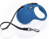 Flexi New Classic Tape - Hondenriem - Blauw - S - 5 m - (<15 kg)