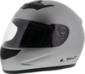 LS2 FF350 Helm Single Mono mat zilver