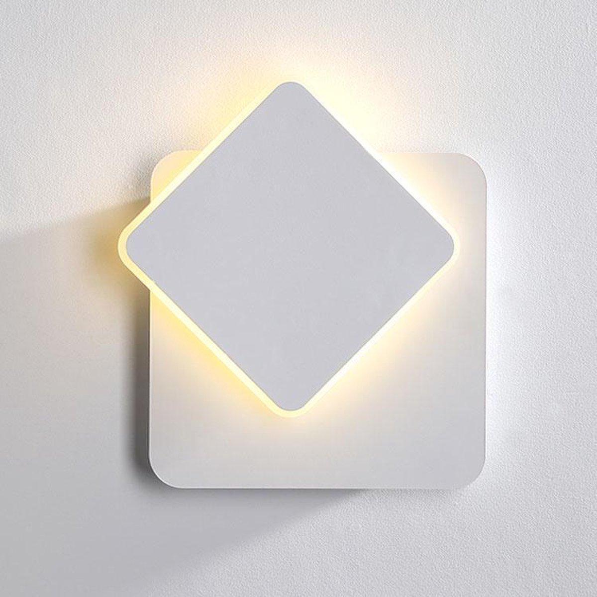 | Wandlamp LED Design Wit Vierkant Aluminium