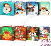 """Diamond Painting """"JobaStores®"""" Kerstkaarten set 02 (8 kaarten)"""