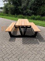 Picknick Tafel Douglas   Zwart structuur   180cm   V-onderstel   Robuuste Picknicktafel